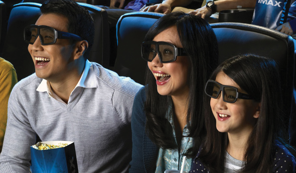 IMAX® Family watching film