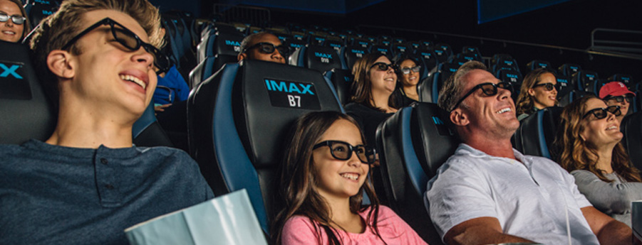 Showcase IMAX® Family watching movie