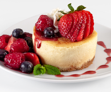 Triple Berry Cheesecakes