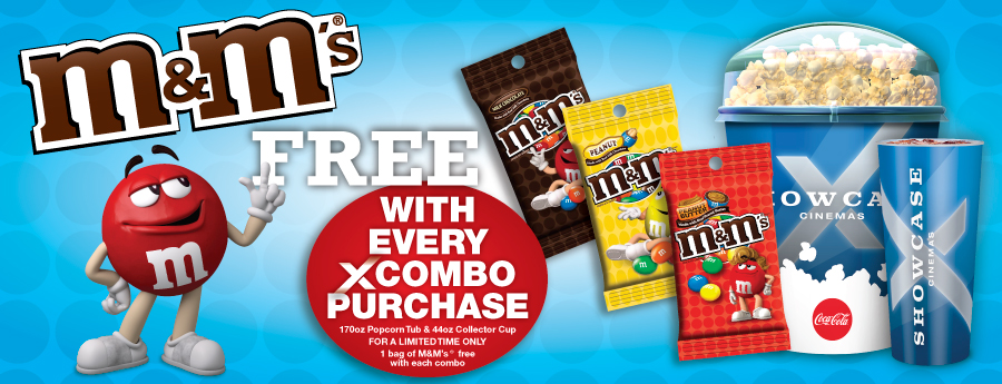 Free M&M's with every Xcombo Purchase