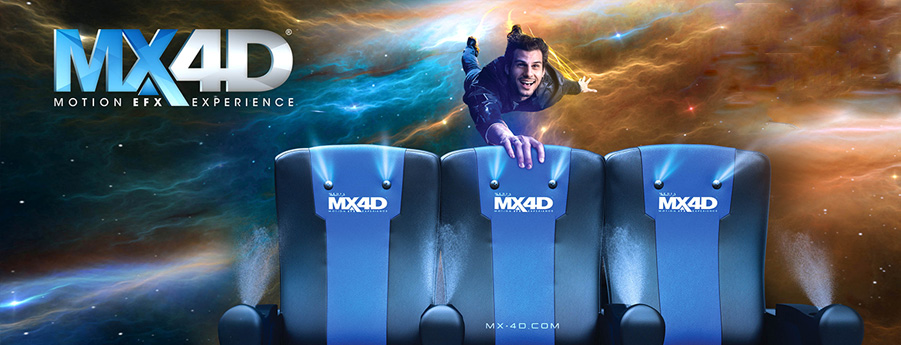 Showcase MX4D® Man flying over seats