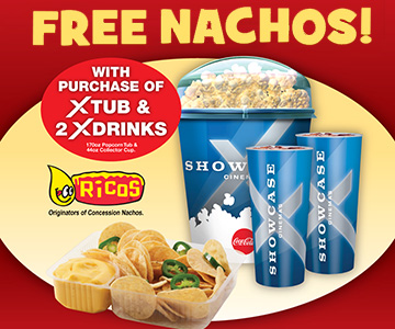 Free nachos with a purchase of xtub and 2x drinks
