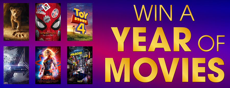 Win a year of movies poster