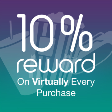 10% reward on virtually every purchase