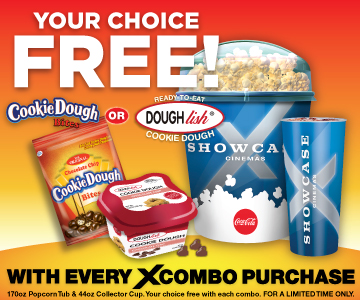 Your choice free Cookie Dough Bites or Doughlish Cookie Dough