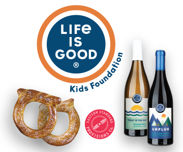 Life is Good Playmakers 90+ Wines & Eastern standard Pretzel