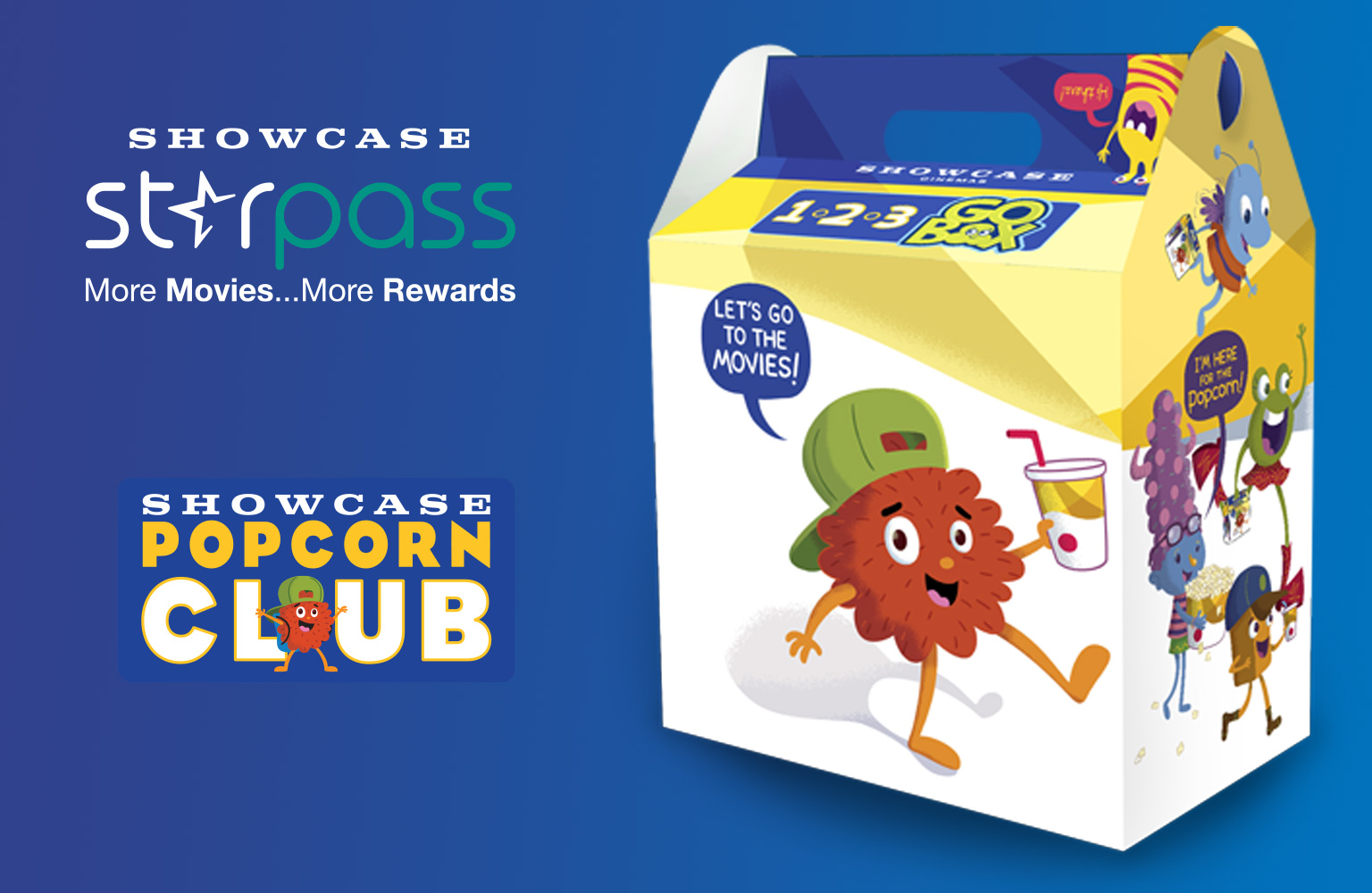 Popcorn Club & Starpass Members get a 123 Go Box for only $5 with your PJ Masks ticket.